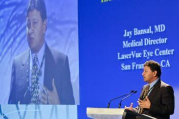 Dr. Bansal giving presentation