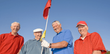 Older Men Golfing