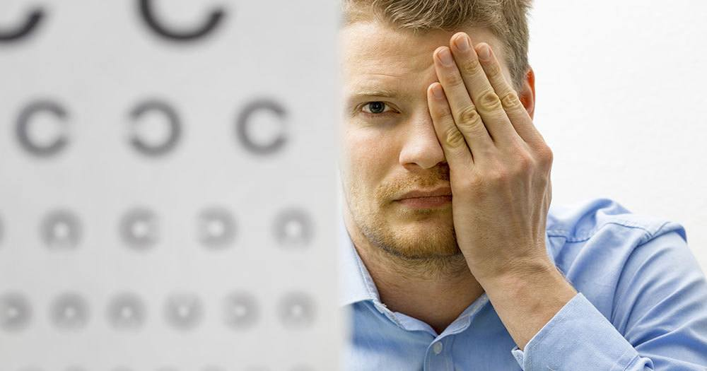 Man Performing Vision Test